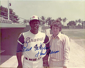 Dick Sanford & Hank Aaron