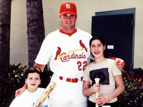 Kids with Mike Matheny